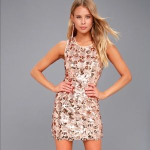 Sequin Sleeveless Bodycon Dress
